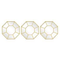 Decoración de Pared Eva Gold 3 Piezas