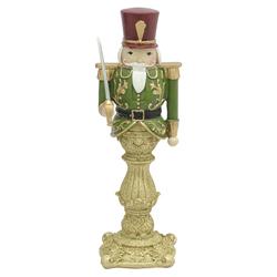 Adorno Cascanuez Verde Dorado 36cm