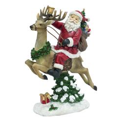 Adorno Navideño Papa Noel en Rodolfo