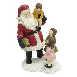 Adorno Navideño Papa Noel con Niños 22cm