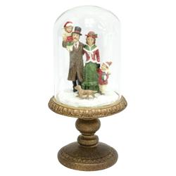 Adorno Navideños Familia en Cúpula 30cm