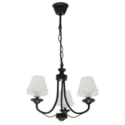 Lámpara Colgante  Fontana  Triple Negra