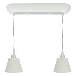 Lámpara Colgante  Futura Blanca 2 Boquilla
