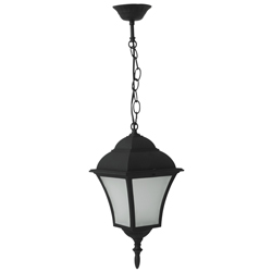 Lámpara Colgante  Led Negro 8w Louis Eurolight
