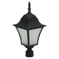 Farol Led Negro de Poste Louis Eurolight