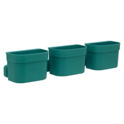Organizador Loft  Verde de 3 Piezas con Soporte Coza