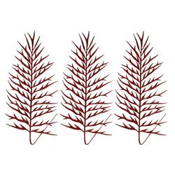 Ramas Rojas 30cm en Set de 3 Piezas