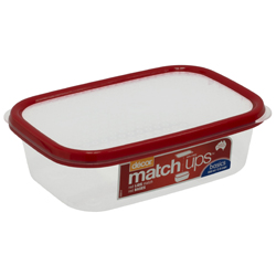 Contenedor  Matchups  Roja 600ml Decor