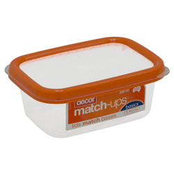 Contenedor Matchups Naranja 200ml Decor