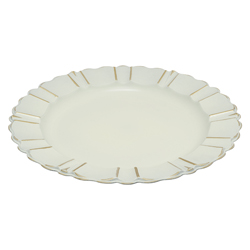 Porta  Plato Blanco con Relieve 33cm