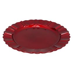 Porta  Plato Rojo con Relieve 33cm