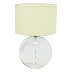 Lámpara de Mesa  Crystal Globe Beige