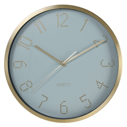 Reloj de Pared Borde Dorado