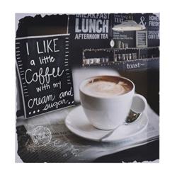Cuadro de Madera Coffee 29x29cm