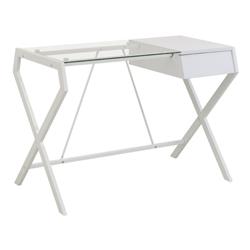 Mesa para Computador  Abbey Blanca