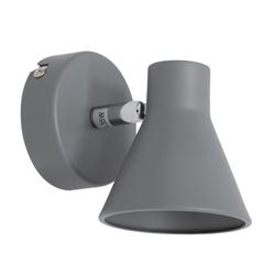 Lámpara de Pared con Pantalla Gris Móvil