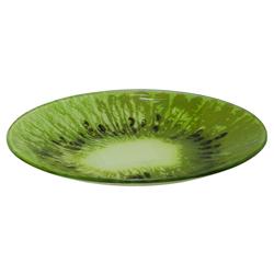 Plato de Vidrio con Diseño de Kiwi