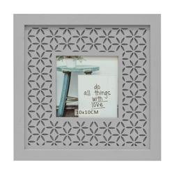Porta Retrato Calado  Gris 21.5x21.5cm