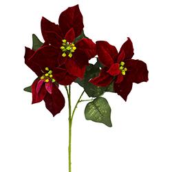 Rama Navideña Ponsetia Roja  3 Flores