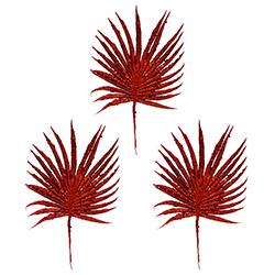 Ramas Escarchadas Rojas Set de 3 Piezas