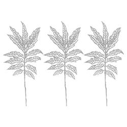 Ramas  Escarchadas Blancas Set de 3 Piezas