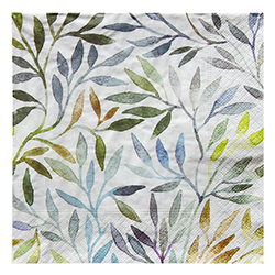 Servilleta Willow Leaves 33x33cm 20 Unidades