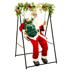 Santa con Mecedora con Movimiento 150cm
