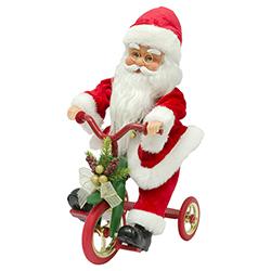 Santa Musical Animado con Triciclo 36cm