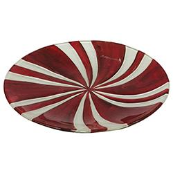 Bandeja Navideña de Vidrio con Diseño de Candy
