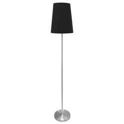 Lámpara de Piso Stray Negra  Eurolight