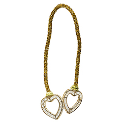 Anillo Porta Servilleta Corazón Oro