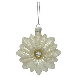 Flor de Vidrio Blanca 9cm