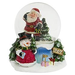 Bola de Cristal con Nieve Santa Joy
