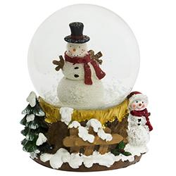 Bola de Cristal con Nieve Snowman Musical