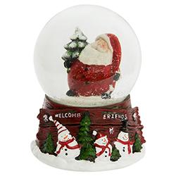 Bola de Cristal  con Nieve Santa Musical