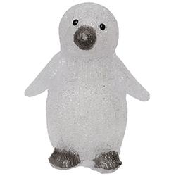 Pingüino Acrílico con Luz Led 30cm