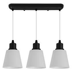 Lámpara Triple Castor Negra