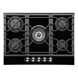 Cocina a Gas con 4 Quemadores + 1 Triple Llama de Vidrio Templado 70x51cm Mastermaid