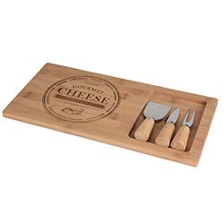 Tabla de Picar Bamboo con Cuchillos