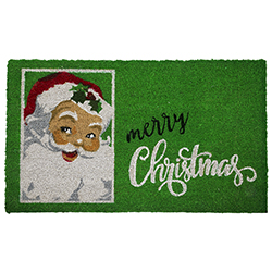 Alfombra de Yute Diseño de Santa Merry Christmas 45x75cm