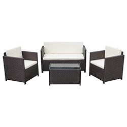 Mueble de Patio Bioko Wengue 4 Piezas