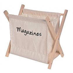 Porta Revista de Tela y Madera
