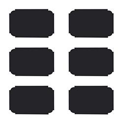 Etiquetas de Pizarra con Tiza 24 Piezas