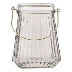 Portavela de Cristal Transparente