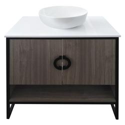 Mueble Humo con Lavamanos 80x50cm
