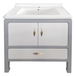Mueble Blanco Gris con Lavamanos 80x48cm