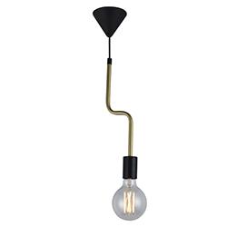 Lámpara Colgante Bronce Negra Eurolight