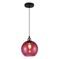 Lámpara Colgante Dash Cristal Roja Eurolight