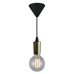 Lámpara Colgante Socket Bronce Eurolight