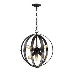 Lámpara Colgante Atom Negra Eurolight
